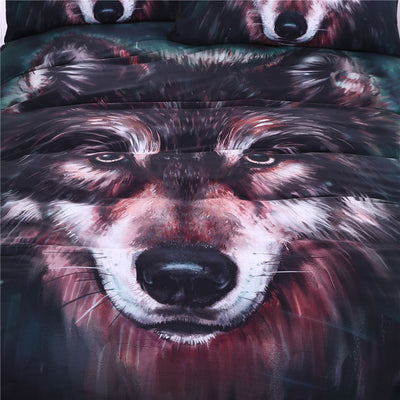 Dropshipful Wolf Bedding Set Painting 3D Vivid Duvet Cover With Pillowcases - Dropshipful.com