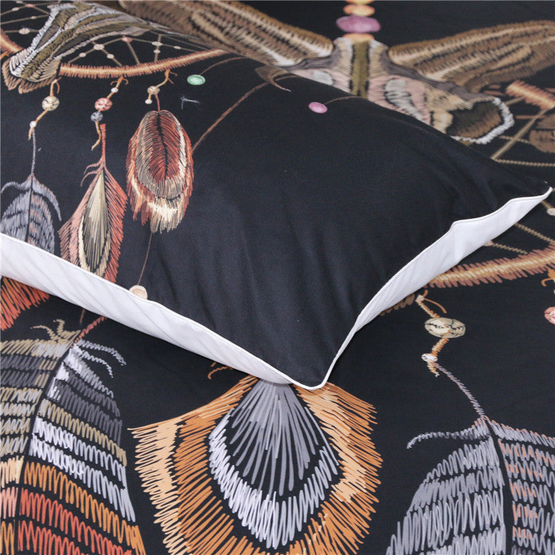 Dropshipful Indian Skull Duvet Cover Set 3pcs Feathers Dreamcatcher  Bedding Set - Dropshipful.com