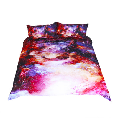 Dropshipful Galaxy Bedding Set Wolf Animal 3D Print Colorful  Duvet Cover 3Pcs - Dropshipful.com
