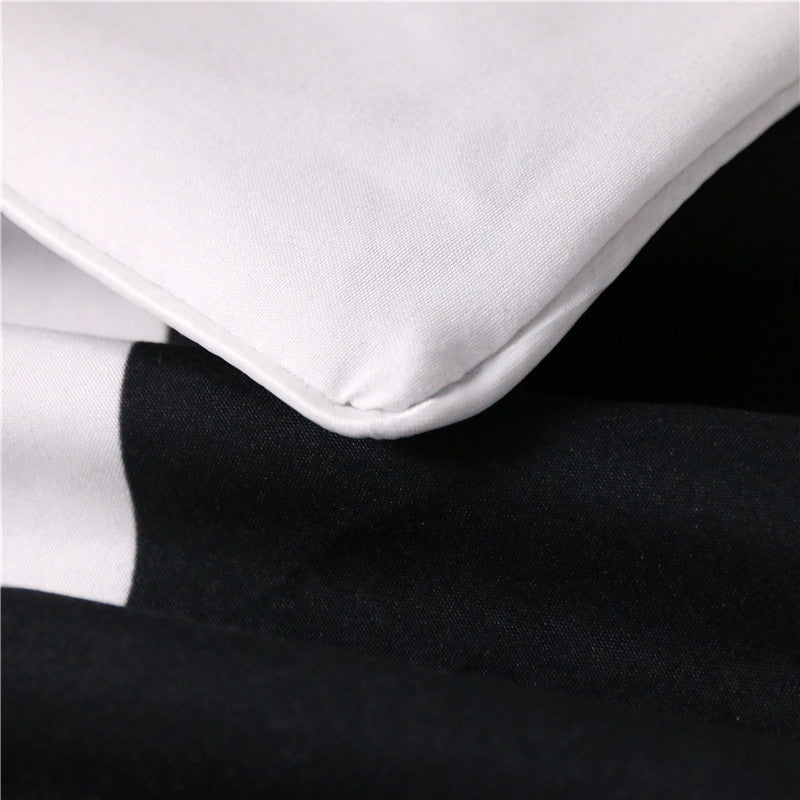 Dropshipful His & Her Side Bedding Set Black and White Couple Duvet Cover Set 3Pcs - Dropshipful.com