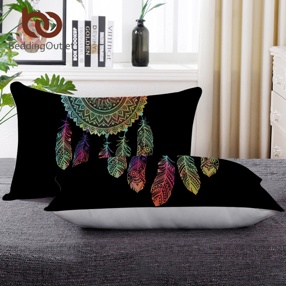 Dropshipful Down Alternative Pillow Hotel Down Pillow Microfiber Fabric Dreamcatcher Bedding Neck Health 50x75cm Washable Soft - Dropshipful.com