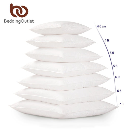 Dropshipful White Cushion Insert Soft for Car Sofa Chair Down Alternative Throw Pillow Core Inner Seat Cushion Filling 40-70cm - Dropshipful.com