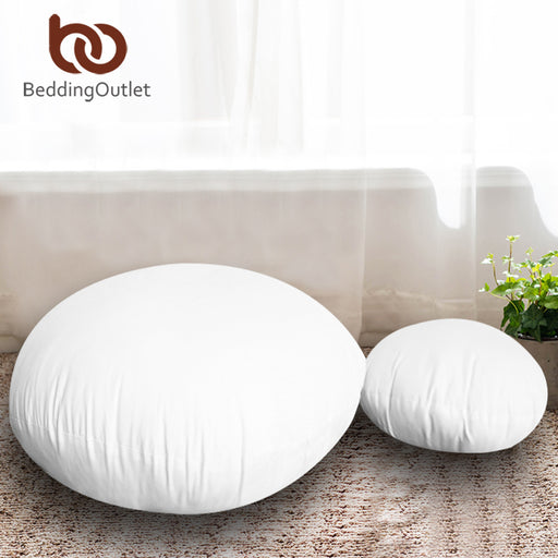 Dropshipful Round Cushion Insert for Car Sofa Chair Throw Pillow Core Inner Down Alternative Floor Seat Cushion Kussens 45cm - Dropshipful.com