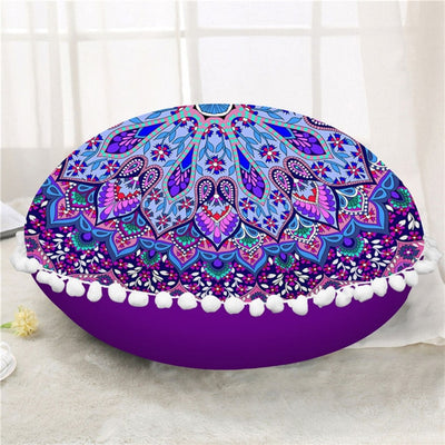 Dropshipful Mandala Round Floor Pillow Case Cushion Cover Poufs Floral Decorative Pillowcase Bohemian Pillow Cover For Sofa - Dropshipful.com