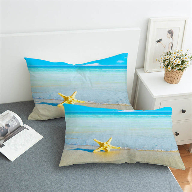 Dropshipful 3D Pillow Cases Moon And Ocean Bedding Print Pillowcases Cozy Home Textiles Soft Blue Pillow Cover 1Pcs 2 Size - Dropshipful.com