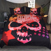 Dropship Skull Bedding Set Girls Love Rock Duvet Cover Pink Stars Pentagram 3pcs - Dropshipful.com