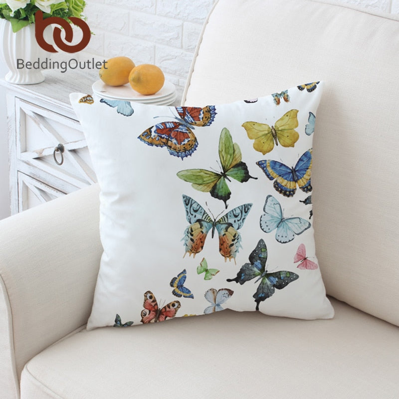 Dropshipful Flying Butterflies Cushion Cover for Sofa Pillow Case Spring Throw Cover Animal Printed Decorative Pillow Covers - Dropshipful.com