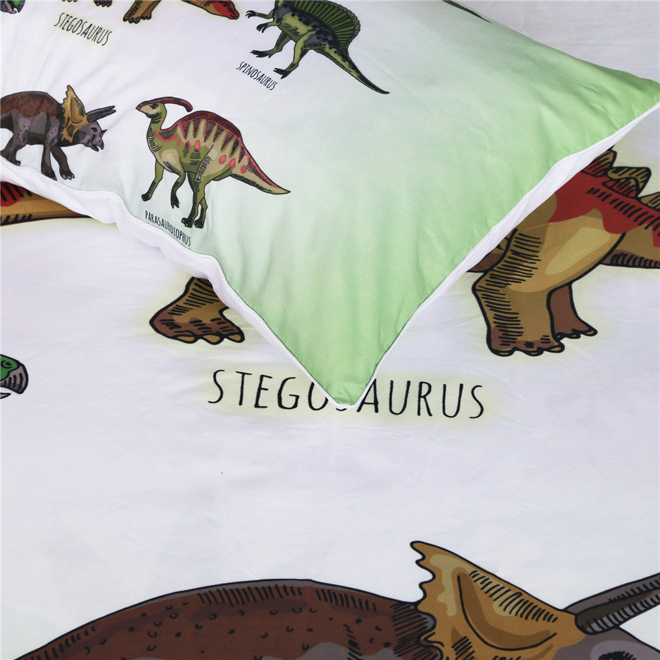 Dropship Dinosaur Family Bedding Set Cartoon Duvet Cover Set 3Pcs - Dropshipful.com