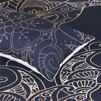 Dropshipful  Golden Dolphin Bedding Set Bohemian Duvet Cover 3pcs - Dropshipful.com