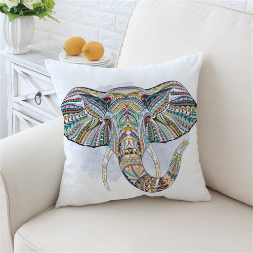 Indian Elephant Cushion Cover Bohemia Pillow Case Colorful Printed Throw Cover - Dropshipful.com