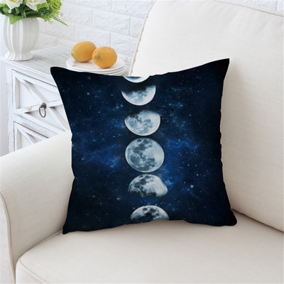 Moon Eclipse Changing Cushion Cover Galaxy Printed Pillow Case 3D Landscape Throw Cover - Dropshipful.com
