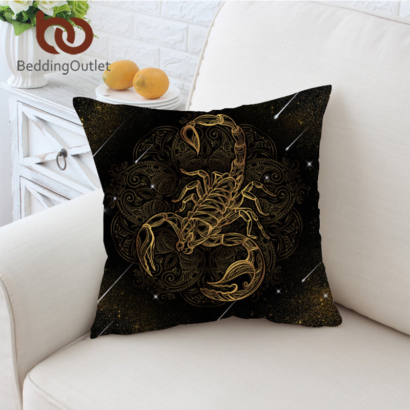 Dropshipful Scorpion Cushion Cover Meteor Scorpio Pillowcase for Sofa Boho Throw Cover Constellation Decorative Pillow Cover - Dropshipful.com