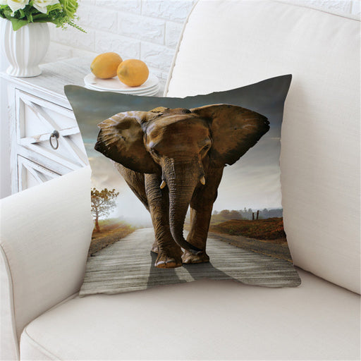 3d Elephant Cushion Cover Indian Pillow Case Home Decor Animal Throw Cover - Dropshipful.com