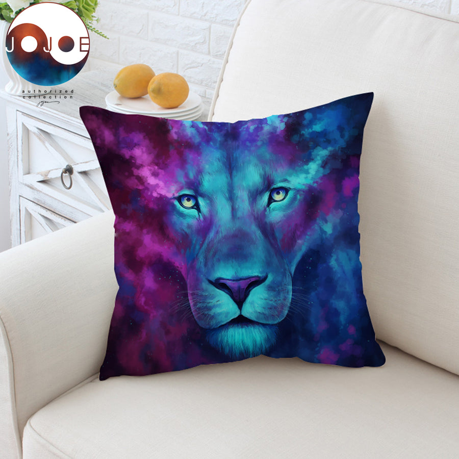 Firstborn by JoJoesArt Cushion Cover Psychedelic Lion Pillow Case Watercolor Animal Throw Cover Decorative Pillow Cover 45x45cm - Dropshipful.com