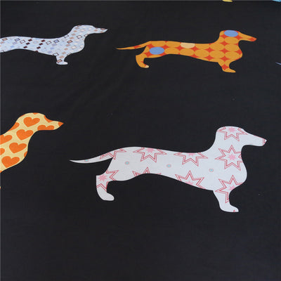 Dropshipful Dachshund Sausage Bedding Set Cute Puppy Duvet Cover 3 Pieces - Dropshipful.com