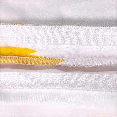Dropshipful Lemon Bedding Set Simple Style Yellow and White  Duvet Cover With Pillowcase 3pcs - Dropshipful.com