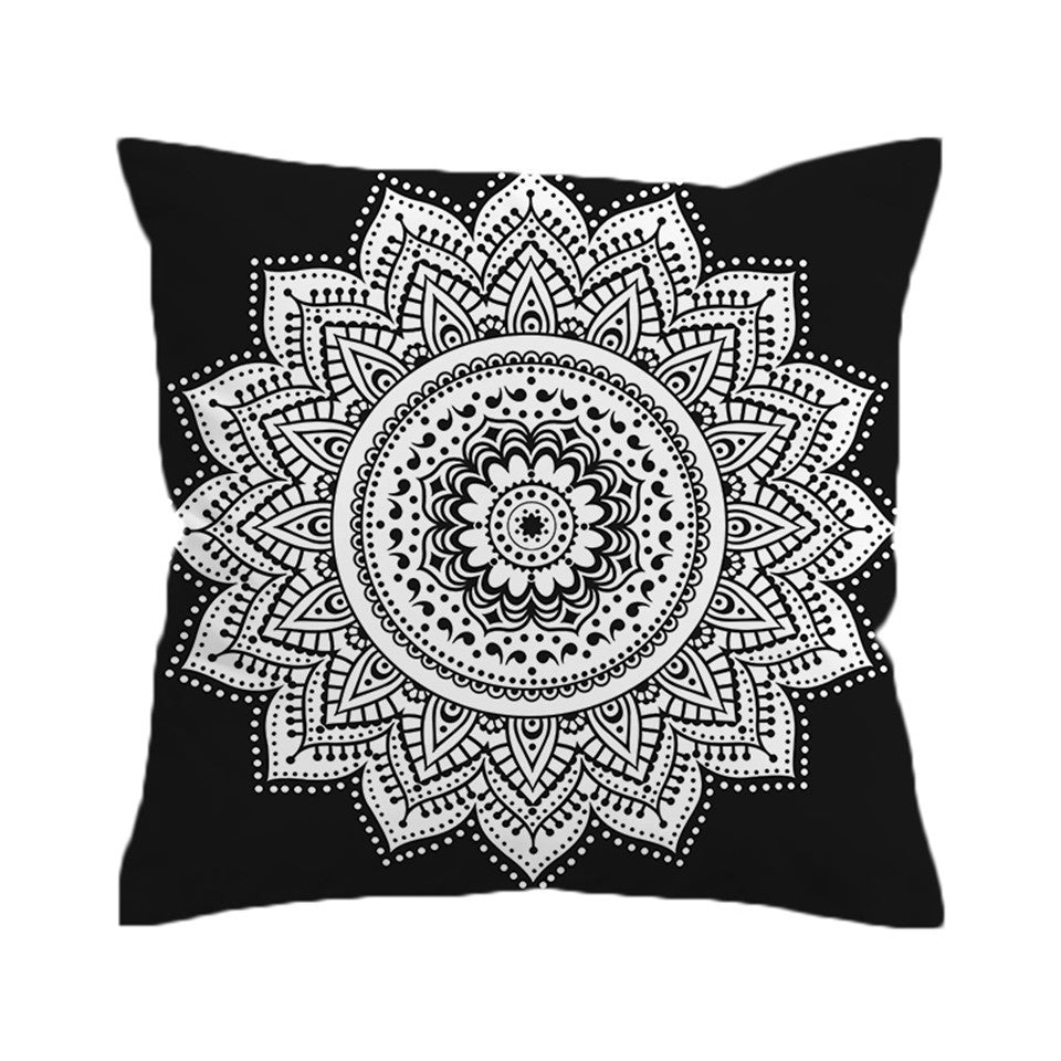 Dropshipful Mandala Print Cushion Cover Throw Cover Bohemian Decorative Pillow Covers - Dropshipful.com