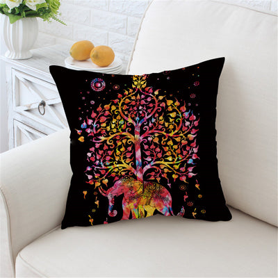 Dropshipful Elephant Mandala Cushion Cover Bohemia Exotic - Dropshipful.com