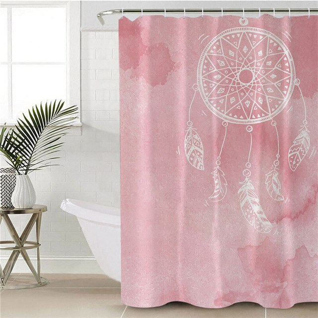 Dropshipful Dreamcatcher Shower Curtain Waterproof Polyester Blue Bathroom Curtain With Hooks Watercolor Home Decoration - Dropshipful.com