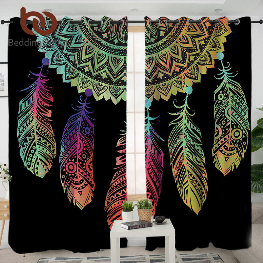 Dropshipful Dreamcatcher Curtains For Living Room Bedroom Colorful Blackout Curtain Window Treatment Drapes Home Decor 1/2pcs - Dropshipful.com