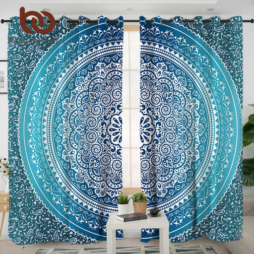 Dropshipful Boho Blue Curtains for Living Room Bedroom Bohemia Curtain Decorative Window Treatment cortinas 1/2pcs 132x213cm - Dropshipful.com