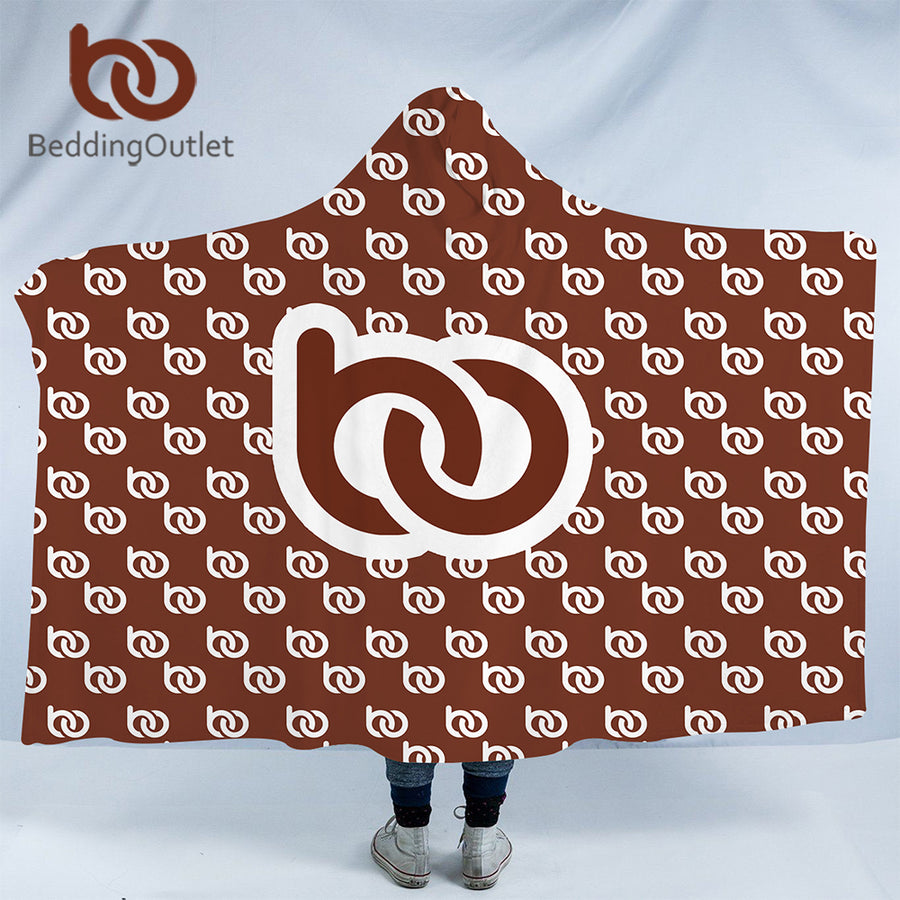 Dropshipful Customized Hooded Blanket for Adult Kid Custom Made DIY Photo Design Wrap Sherpa Fleece Throw Blanket Dropshipping - Dropshipful.com