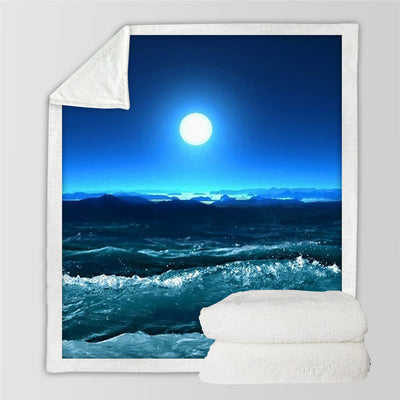 Starfish And Ocean Throw Blanket 3D Print Bedding Animal  Home Textiles Soft Sherpa Blankets - Dropshipful.com