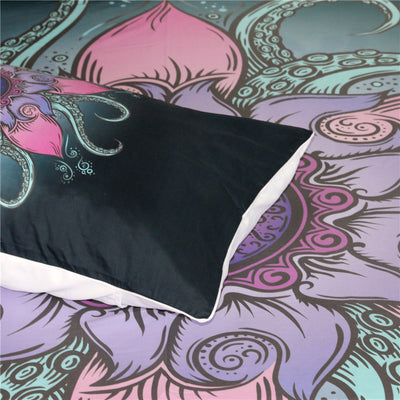 Dropshipful Octopus Bedding Set Mandala Flower Microfiber Duvet Cover 3Pcs - Dropshipful.com