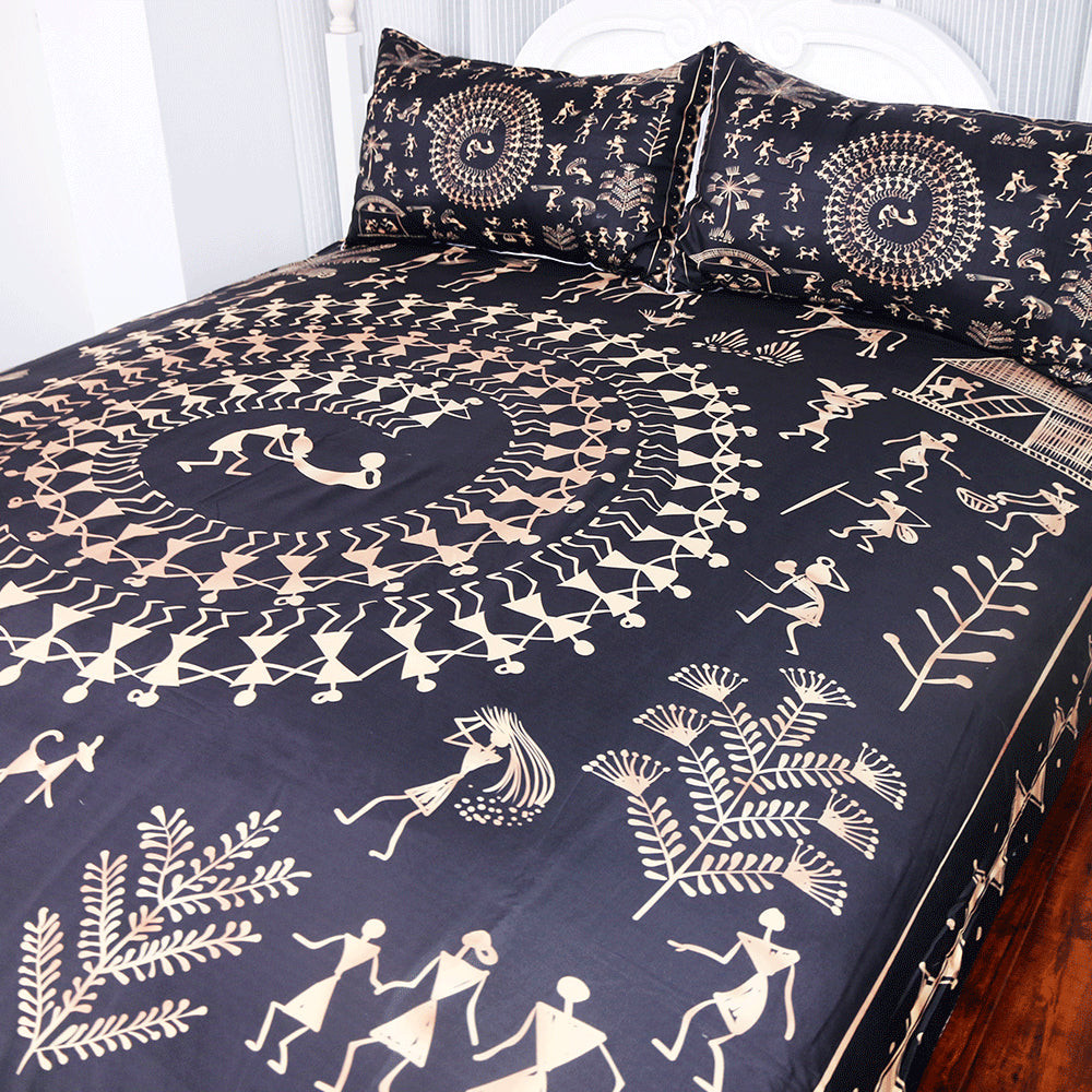 Dropship Ancient Civilization Bedding Set Golden and Black Duvet Cover Set 3-Piece - Dropshipful.com