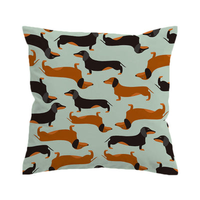 Dachshund Sausage Cushion Cover Cartoon Dogs Pillow Case Pet Throw Cover Decorative Pillow Cover - Dropshipful.com