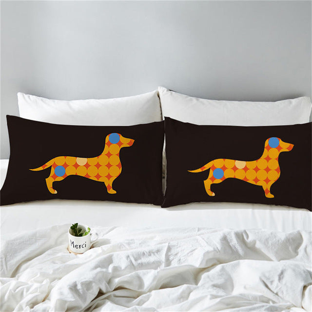Dropshipful Colorful Dachshund Sausage Pillowcase Dogs Puppy Pillow Cover Microfiber Pillow Case 50x75cm Cartoon Kids Bedding - Dropshipful.com