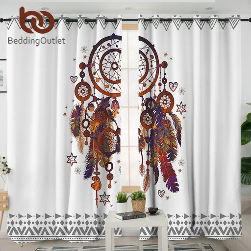 Dropshipful Dreamcatcher Living Room Curtain Hipster Watercolor Curtain for Bedroom Bohemia Window Treatment Drapes Home Decor - Dropshipful.com