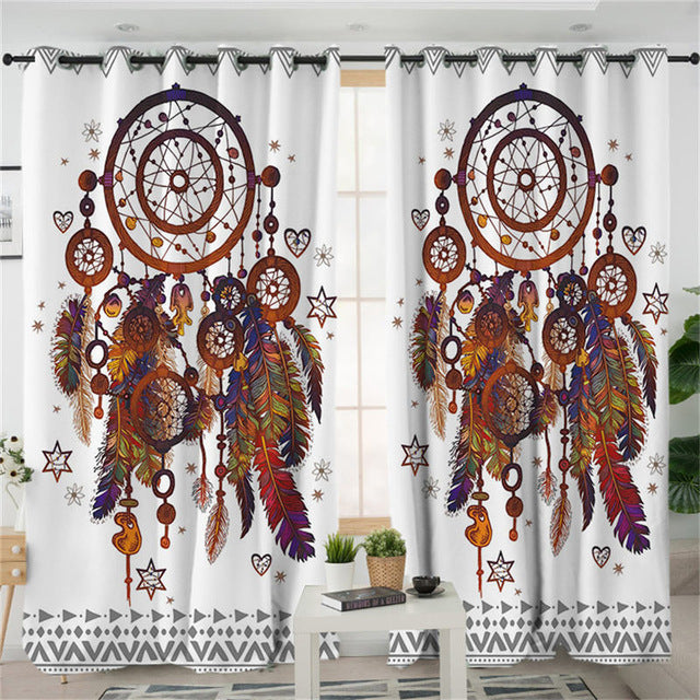 Dreamcatcher Living Room Curtain Hipster Watercolor Curtain  Bohemia  Home Decor - Dropshipful.com