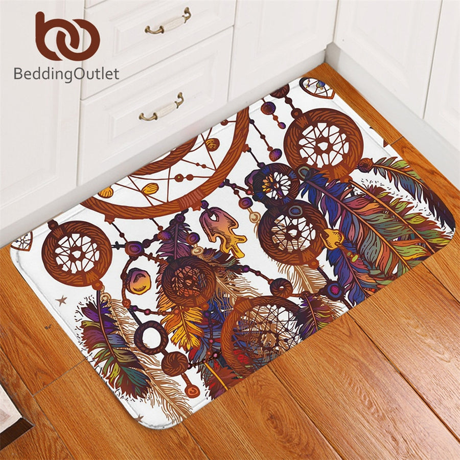 Dropshipful Dreamcatcher Floor Area Rug for Living Room Non-slip Bathroom Carpet Bohemian Watercolor Door Mats Outdoor tapete - Dropshipful.com