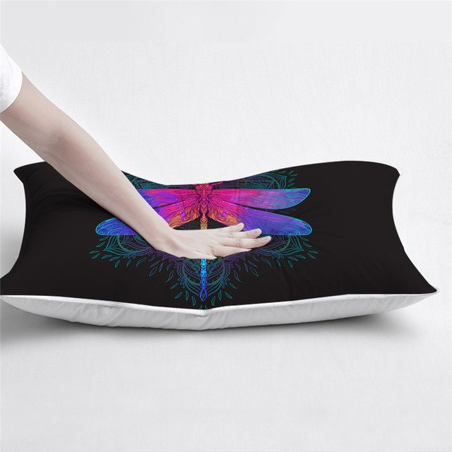 Dropshipful Dragonfly Mandala Sleeping Down Alternative Pillow Colorful Throw Body Pillow Purple Pink Insect Adult Bedding 1pc - Dropshipful.com