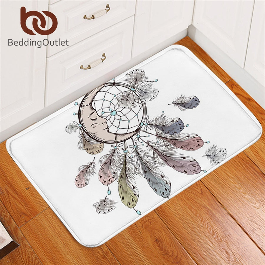 Dropshipful Moon Dreamcatcher Door Carpet Non-slip White Doormats Outdoor Bohemian Rugs Mats for Kitchen Bathroom 40x60cm - Dropshipful.com