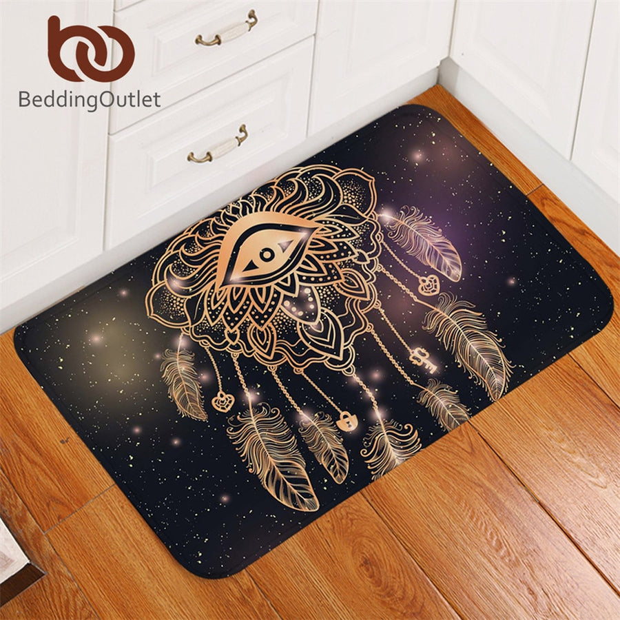 Dropshipful Eye Dreamcatcher Door Carpet Non-slip Luxury Galaxy Stars Doormats Outdoor Entrance Bohemian Rugs Mats 40x60cm - Dropshipful.com