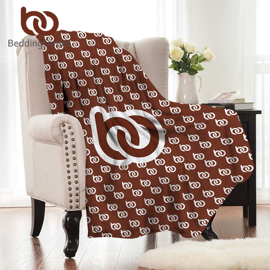 BeddingOutlet Print on Demand Flannel Blanket Custom Made Coral Fleece Blanket Customized DIY Bed Throw Dropshipping Warm Sheets