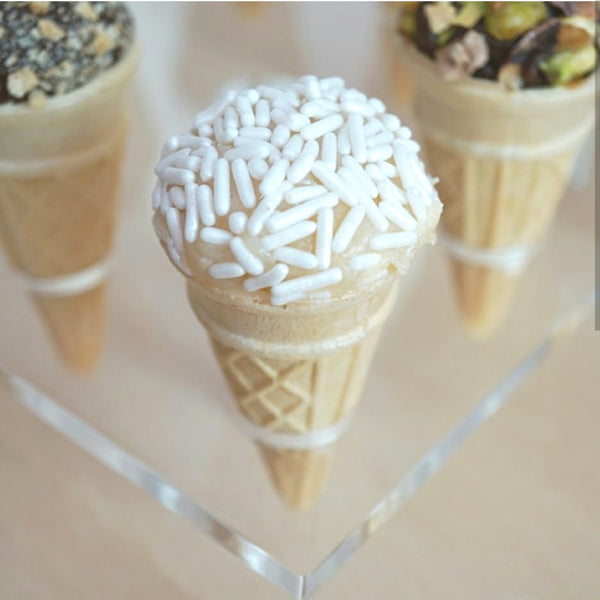 White Chocolate Truffle Cone