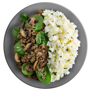 Eggwhite Beef and Spinach Breakfast