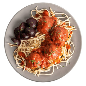 Athlete Chicken Meatballs Marinara with Gluten-Free Spaghetti