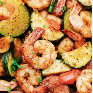Shrimp and Sausage Skillet