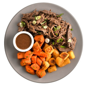 Athlete Mole Braised Beef with Carrot and Roasted Yuca