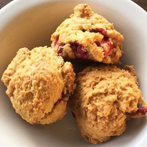 Paleo Cranberry Orange Scone