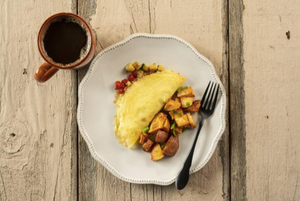 Summer Squash Omelete w/ Potato Hash