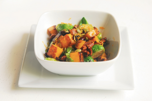Orange Glazed Butternut Squash and Brussels Sprouts Salad