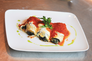 Eggplant Rollatini with Chicken