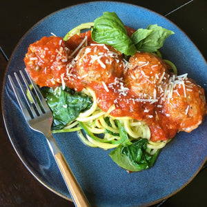 Zoodles & Turkey Meatballs