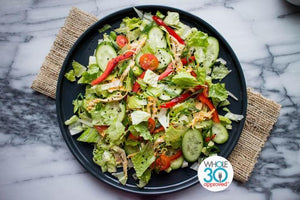 Asian Chicken Salad with Carrot Ginger Dressing