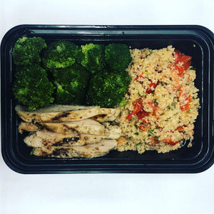 Grilled Chicken, Steamed Broccoli & Tomato Couscous
